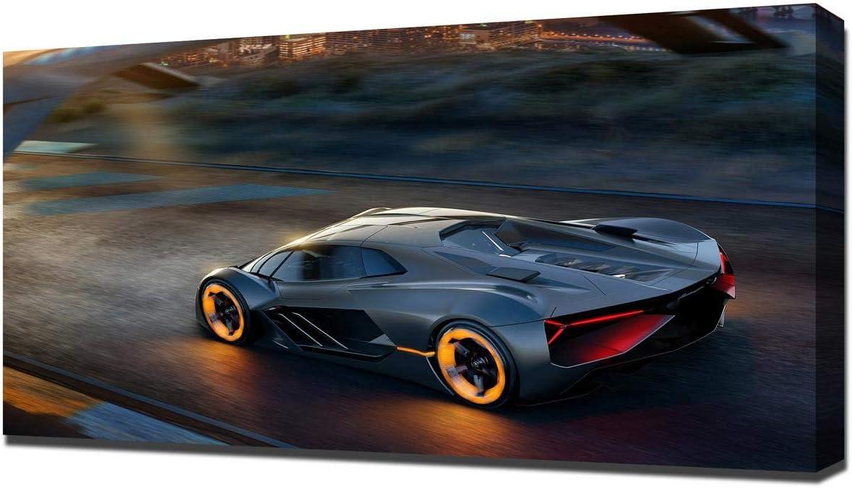 Lamborghini Terzo Millennio super sport car//new canvas prints on wooden bars