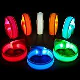 PROLOSO LED 臂带,发光手链,闪发光运动腕带 8 个装夜光派对用品