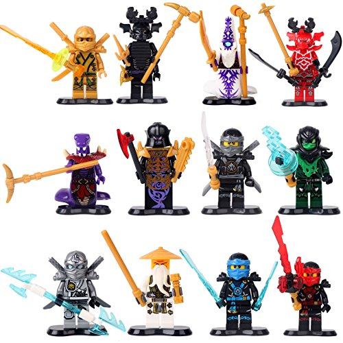 [NINJAGO NINJA Kai WU COLE ZANE Jay PYTHOR 12 Minifigures Building Bricks le GO] (Diy Toothless Dragon Costume)