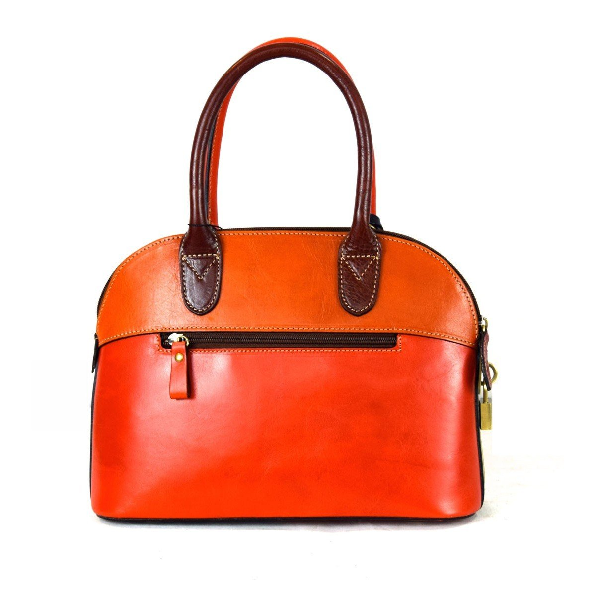 Leather Handbag For Woman With Padlock Color Multicolor