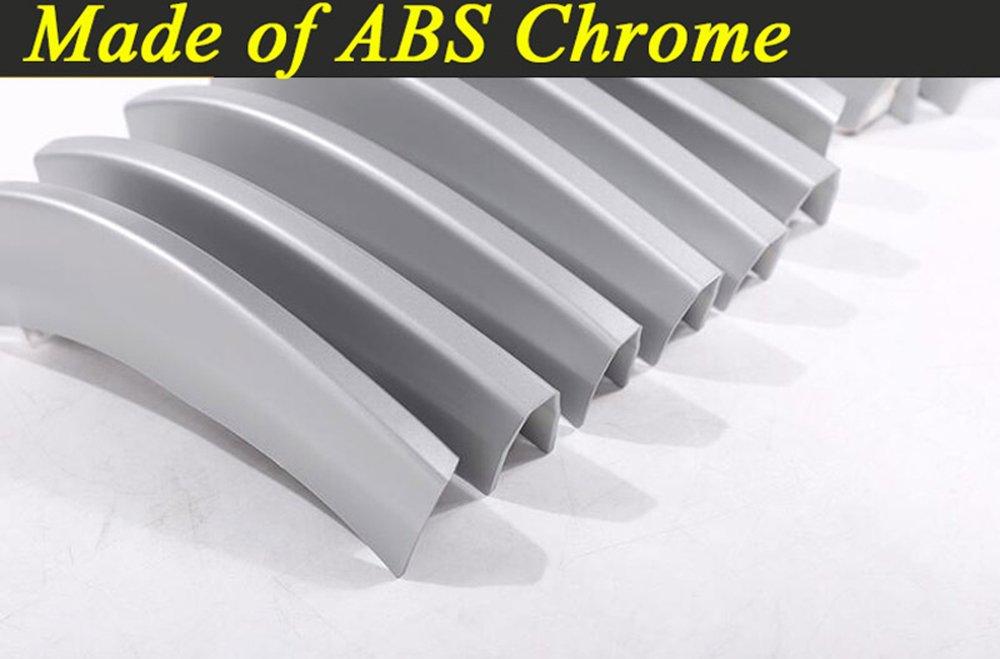 14PCS griglia anteriore di ABS cromato paillettes accessori