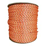 Dacron Polyester Pull Cord (#4) - SGT KNOTS - Solid Braid Rope - Small Engine Starter Rope - Replacement Cord Rope for Lawn Mowers, Leaf Blowers, Snowblowers, Generators, More (10 feet, Orange)