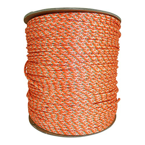 Dacron Polyester Pull Cord (#5) - SGT KNOTS - Solid Braid Rope - Small Engine Starter Rope - Replacement Cord Rope for Lawn Mowers, Leaf Blowers, Snowblowers, Generators, More (100 feet, Orange)