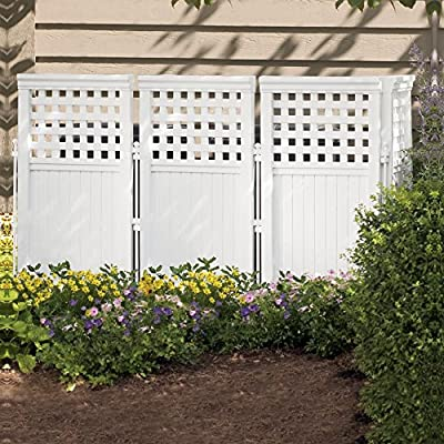 Suncast 3.75-ft. Vinyl Privacy Screen Enclosure - 4 Panel
