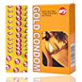 Youkexin Gold Condoms, Invisible Thin & Ultra Condom, 10 Pcs colorful Adult Sensitive Orgasm Condoms
