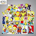 Debon Luggage Tags Stickers The Simpsons Family Sticker Decal Label for Cars PC IPAD Bumper Skateboard Helmet Auto Bikes Ride Patches Truck Funny Cartoon Waterproof Removable Wall Decals Gift for Kid by DEBON that we recomend individually.