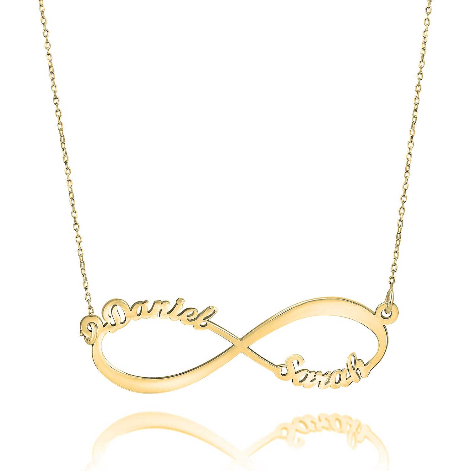 Fresh Jewelry Infinity Name Necklace 18k Gold Plated Personalized Gift Necklace Custom Personalized Engraved