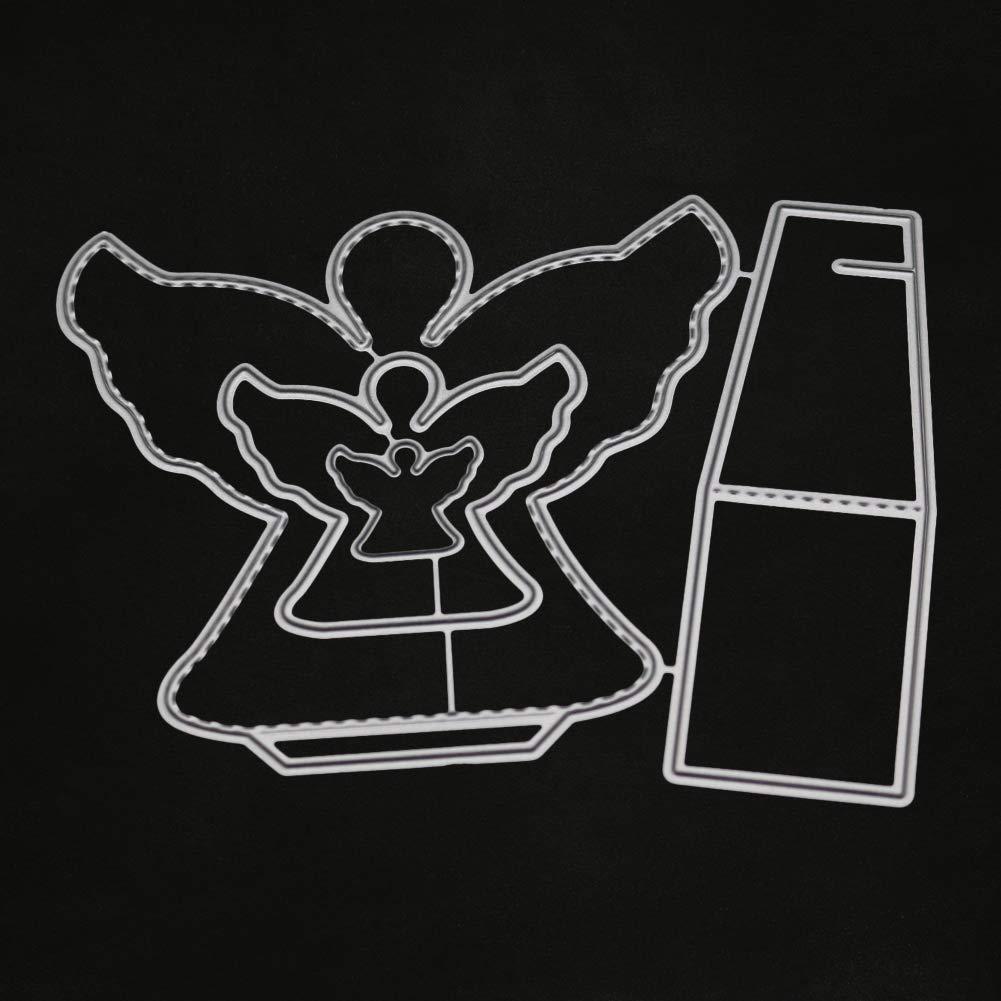 zmigrapddn Troqueles,Efecto 3D Angel Design Troqueles de corte plantilla moldes para hacer /álbumes de recortes /Álbum Tarjeta de papel Artesan/ía Metal