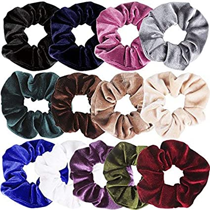 18Pcs//Pack Hair Scrunchies Velvet Elastics Scrunchy Bobbles Soft Hair Bands Ties