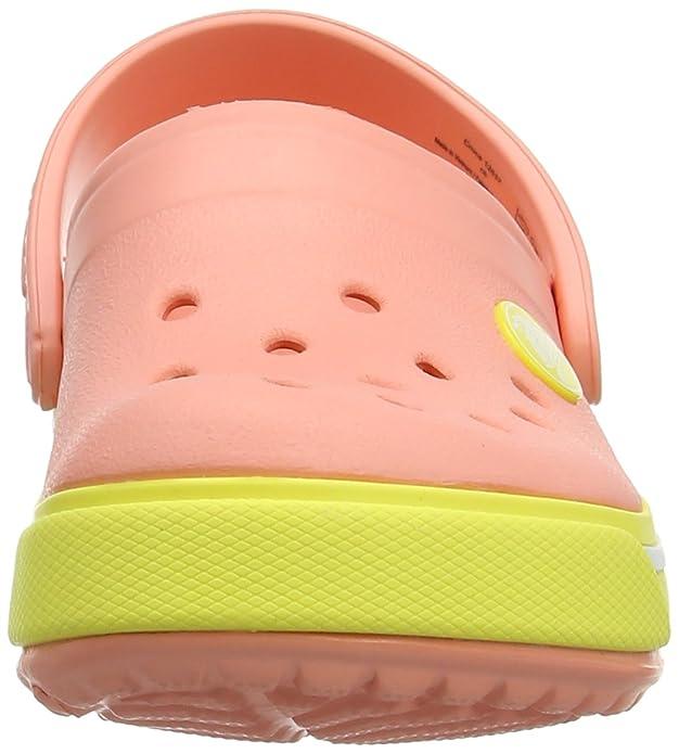 crocs Crocband II.5 Unisex-Kinder Clogs, Pink (Melon/Chartreuse 6IY), 32/33
