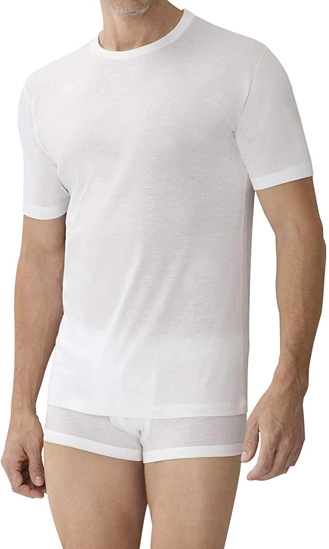 Zimmerli of Switzerland Business Class High V-Neck Tee Shirt in White or Black