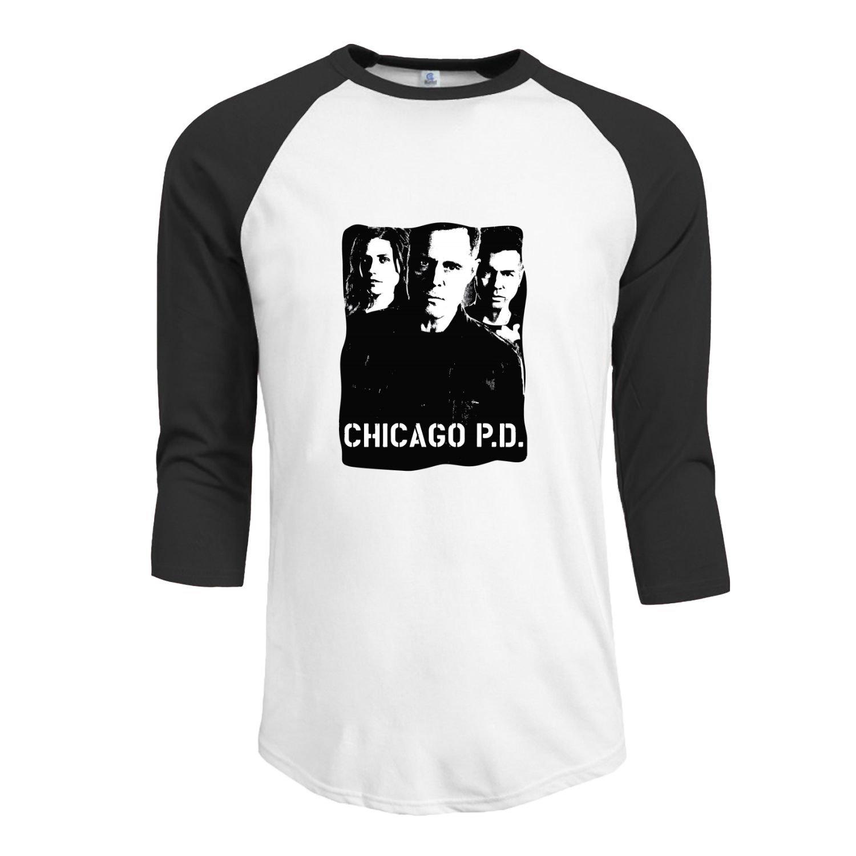 Chicago Pd Police Departt 3 4 Sleeve Raglan T Shirt 2692