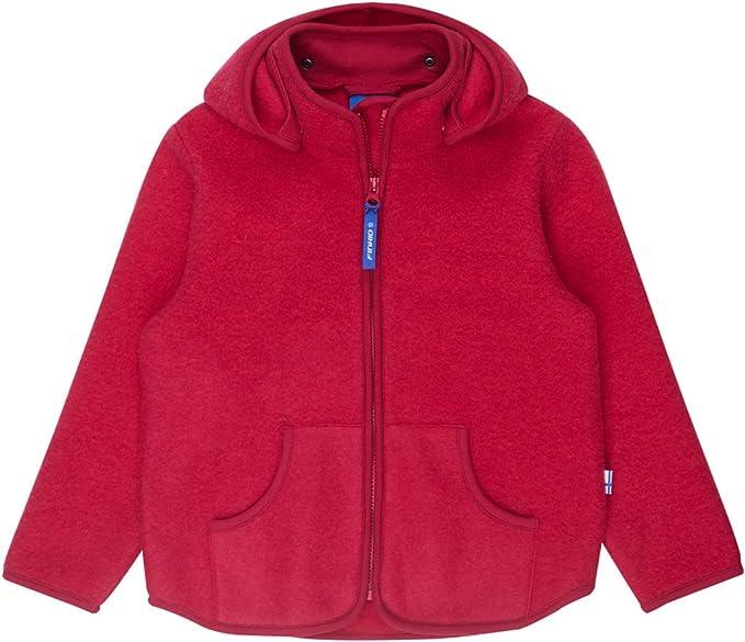 finkid TONTTU SPORT WOOL Wolljacke Zip In persian red 110 120