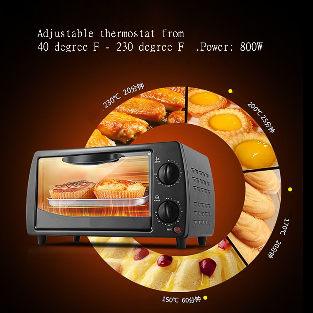 Amazon.com: dulplay horno tostador, horno eléctrico, mini ...