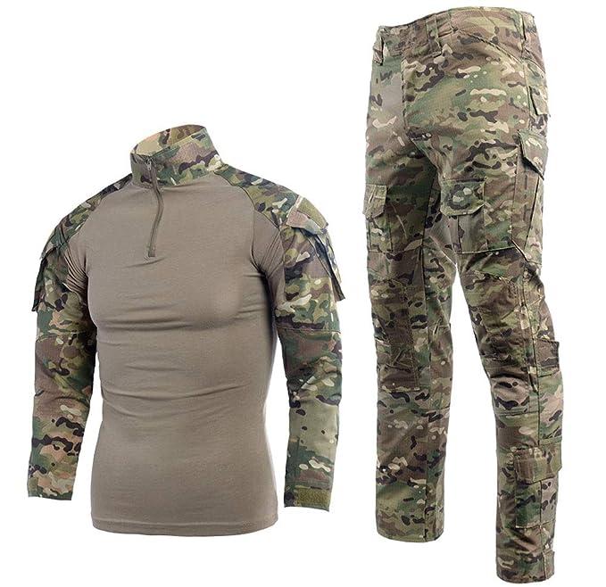 LANBAOSI Traje táctico BDU Camisa de Combate Pantalones para ...