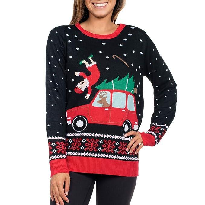 Ropa Camisetas Mujer, Navidad Impresa Blusa para Mujer Camisetas Mujer Camisas Mujer Tops Tallas Grandes Mujer: Amazon.es: Ropa y accesorios