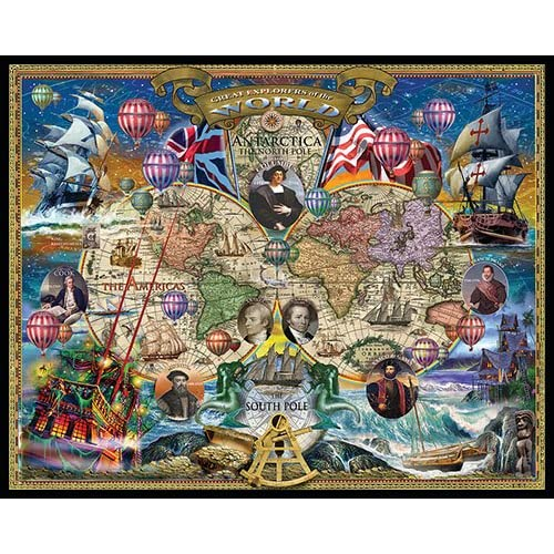 Chic white mountain puzzles great explorers world map 1000 piece chic white mountain puzzles great explorers world map 1000 piece jigsaw puzzle multicolor gumiabroncs Gallery