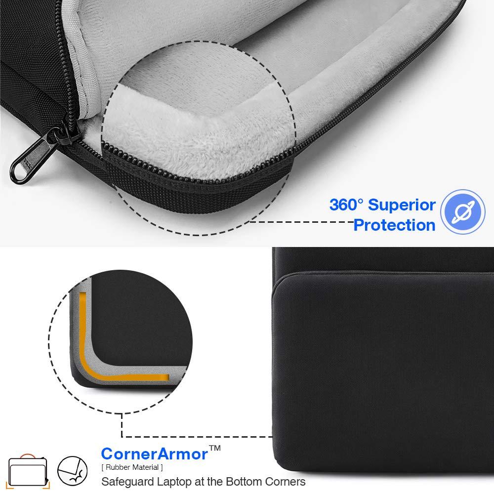 ASUS Samsung Ultrabooks Thinkpad Acer Dell 【15-15.6 Pouces】 tomtoc Housse de Protection /à 360/° pour 15-15.6 Pouces Odinateur Portable HP Sacoche Ordinateur Portable 15 Pouces Gris