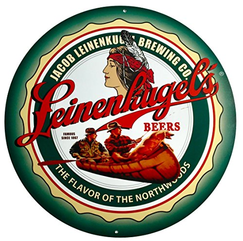 Leinenkugels Fishing Sign - Aluminum - Beer Leinenkugels
