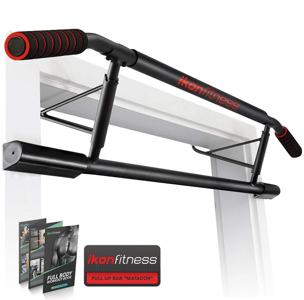 Ikonfitness Pull Up Bar Max with Ergonomic Grip - USA Original Patent, USA Designed, USA Shipped, USA Warranty, White