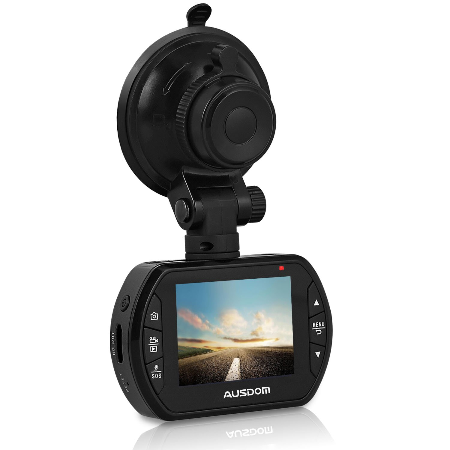 AUSDOM Dash Cam AD170 with 1080P FHD,G-Sensor, Loop-Cycle Recording,WDR