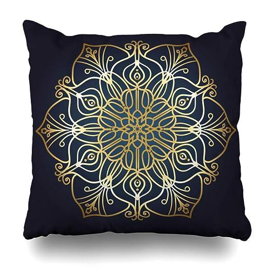 Ahawoso funda de almohada con patrón de círculos ...