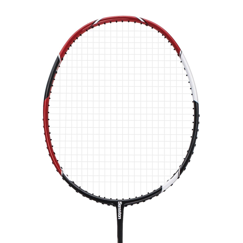 Senston S-330 Single Carbon Fiber Badminton Racquet High String Badminton Racket Red with Racket Cover by Senston (Image #2)