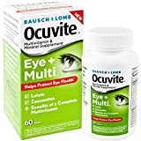 Bausch + Lomb Ocuvite Eye and Multi Multivitamin and Mineral Supplement with Lutein, Zeaxanthin, and Other Antioxidants, 60 Count Bottle For Sale