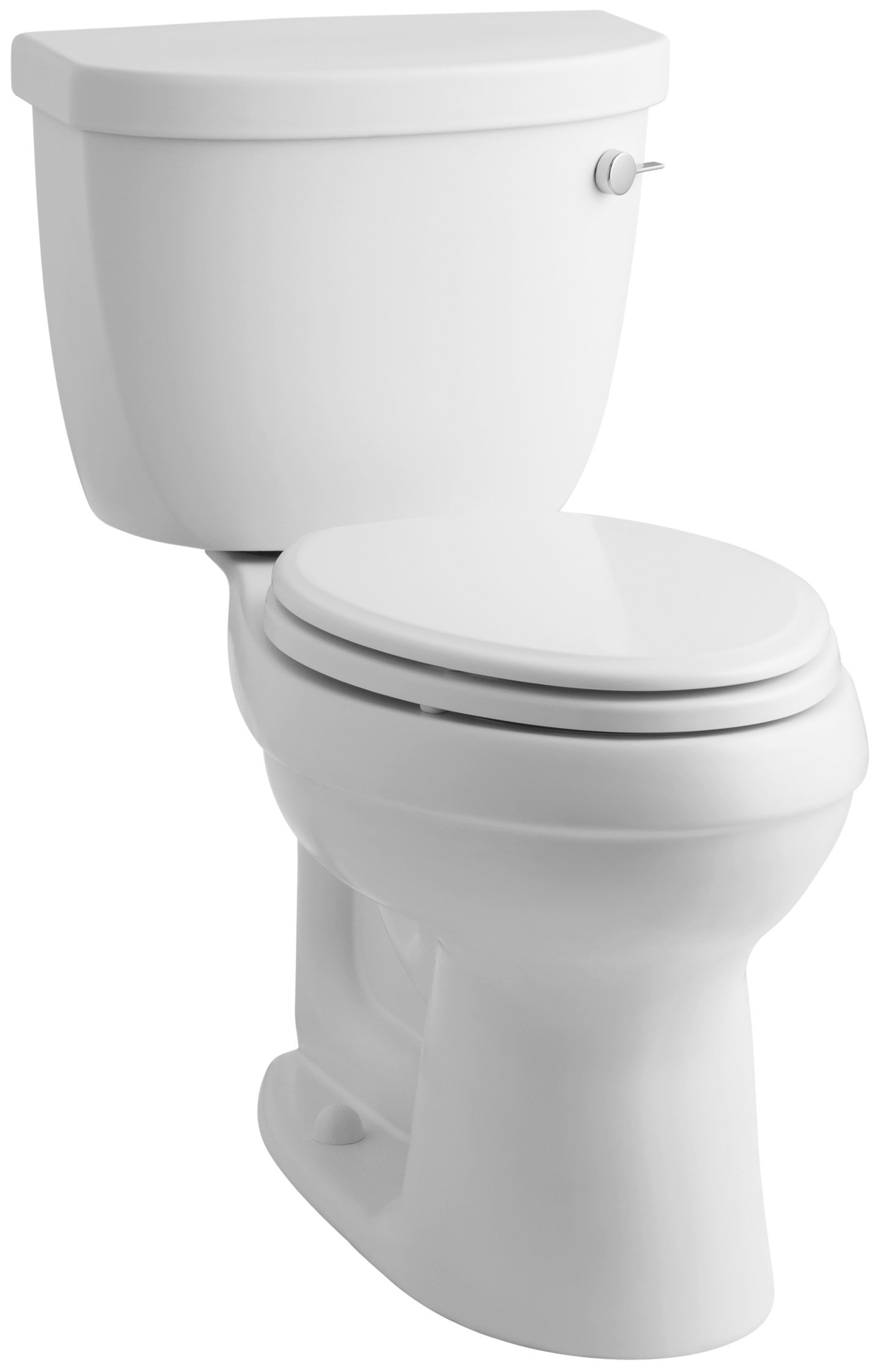 KOHLER K-3609-RA-0 Cimarron Comfort Height 1.28 Elongated Toilet with Class Five Technology and Right-Hand Trip Lever, Less Seat, White by Kohler