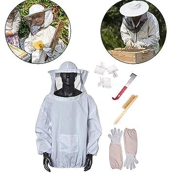 Amazon.com: ToomLight Traje de apicultura, 7 en 1 chaqueta ...
