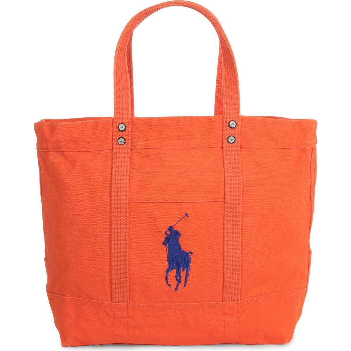 1715eb9d3cd57 Amazon.com  Polo Ralph Lauren Cotton Canvas Big Pony Zip Tote Bag (One  size