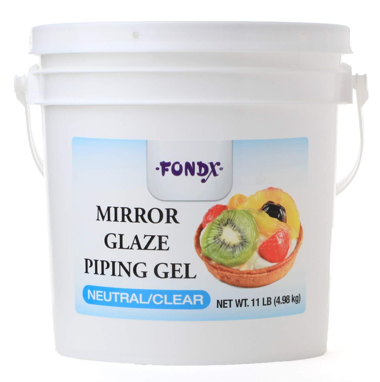 FONDX Mirror Glaze Piping Gel 11 lb - Neutral / Clear