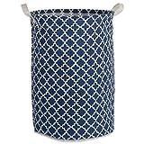 "DII Cotton/Polyester Cube Laundry Basket, Perfect In Your Bedroom, Nursey, Dorm, Closet, 9 x 12 x 8"", Small Set of 2 - Aqua Lattice"
