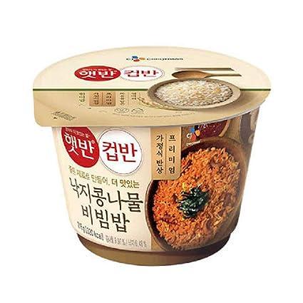 CJ Hetbahn Cupbahn] Arroz blanco coreano cocido con pulpo ...