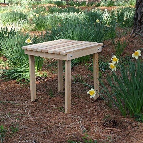 - Designed For Outdoors Hometown Cypress Adirondack Side Table