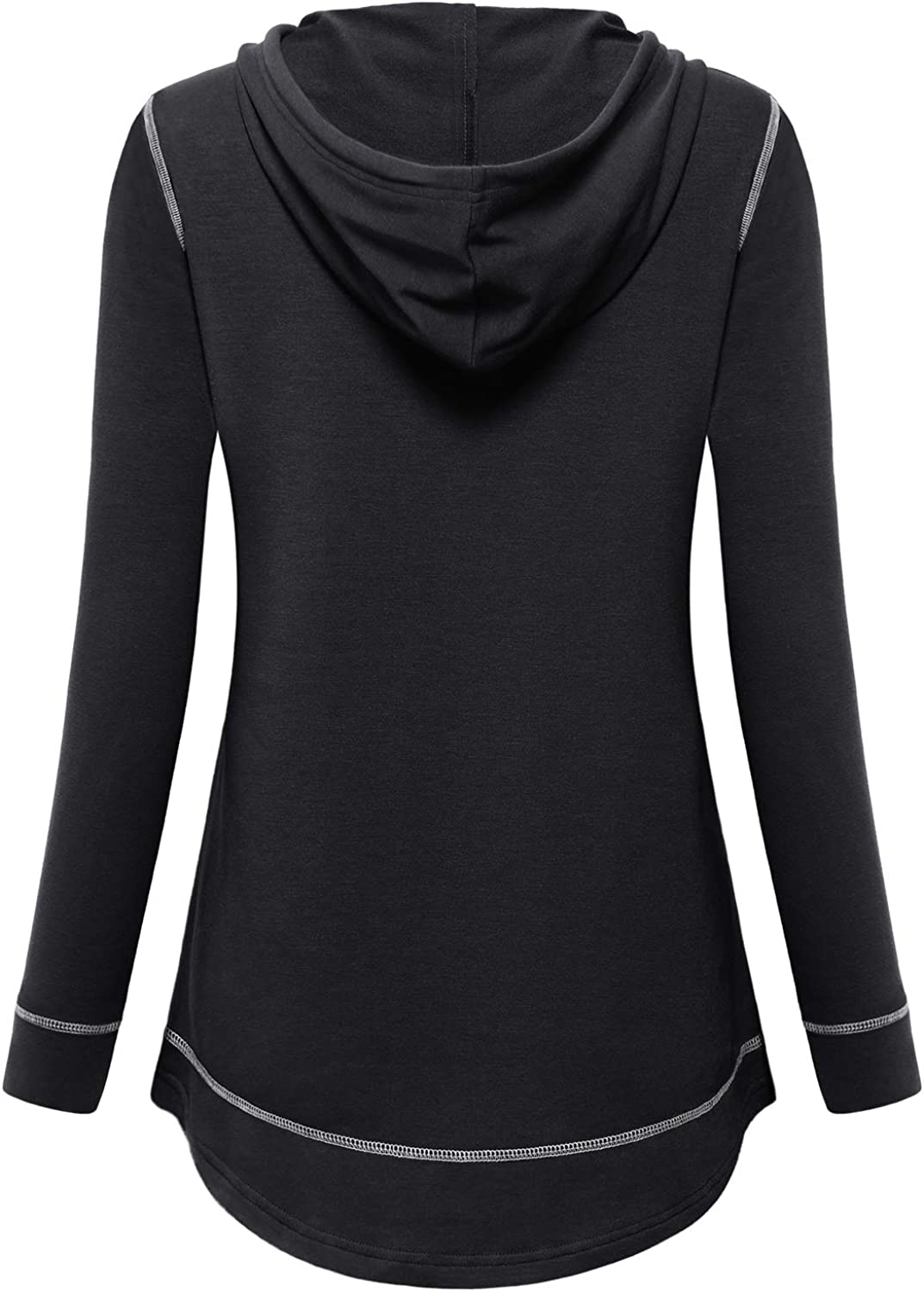 MOQIVGI Womens Long Sleeve Lightweight Activewear Casual Running Yoga Workout Hooded Tops