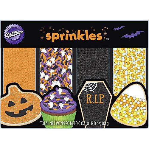 Wilton 4-Pack Halloween Sprinkles (Halloween Cookie Decorations)