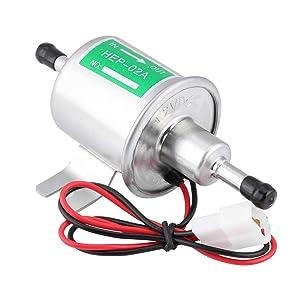 EVGATSAUTO Gasolina universal Gasolina Bomba de combustible eléctrica 12V Generadores universales de gas y diesel HEP-02A