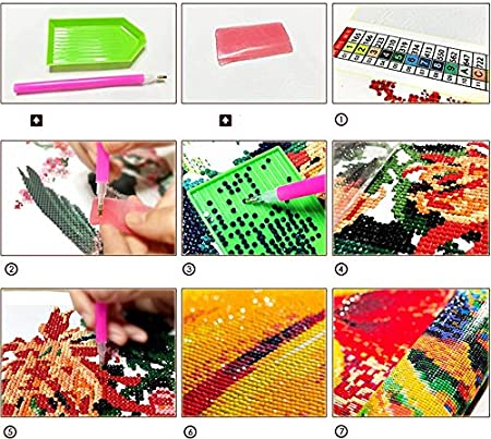 decoraci/ón del hogar. obra de arte de bordado de diamantes de resina Pintura de diamante 5D DIY kit de punto de cruz de diamante BTS coreano 9.8x11.8inch