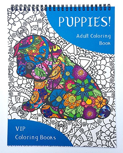 Shih Tzu Bichon Puppies (Puppies! Adult Coloring Book with Zentangle Designs of 50 Popular Dog Breeds - VIP Coloring Books)