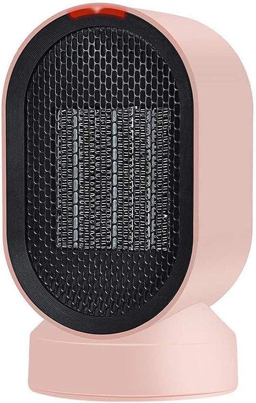 Lucky-cl Portátil Mini Calentador De Ventilador, Personal Ventilador Calefactor Eléctrico PTC Cerámica, Oscilación Automática Calefactor Aire Frio Y Caliente para Hogar Oficina: Amazon.es: Hogar