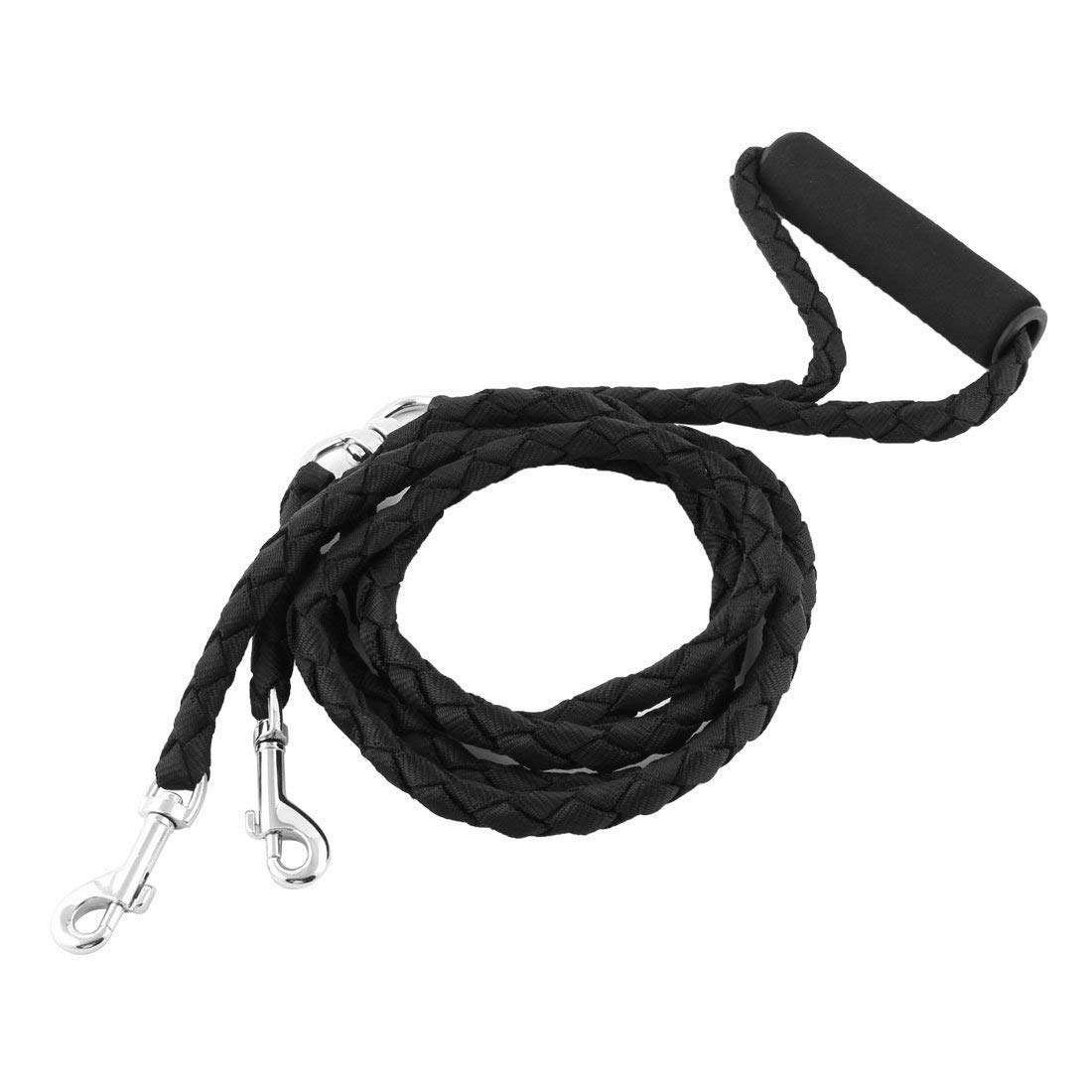 1Pc Black, M   6 colors Strong Nylon Hand Free Dog Leash Pet Leads for Running Jogging Hiking Walking