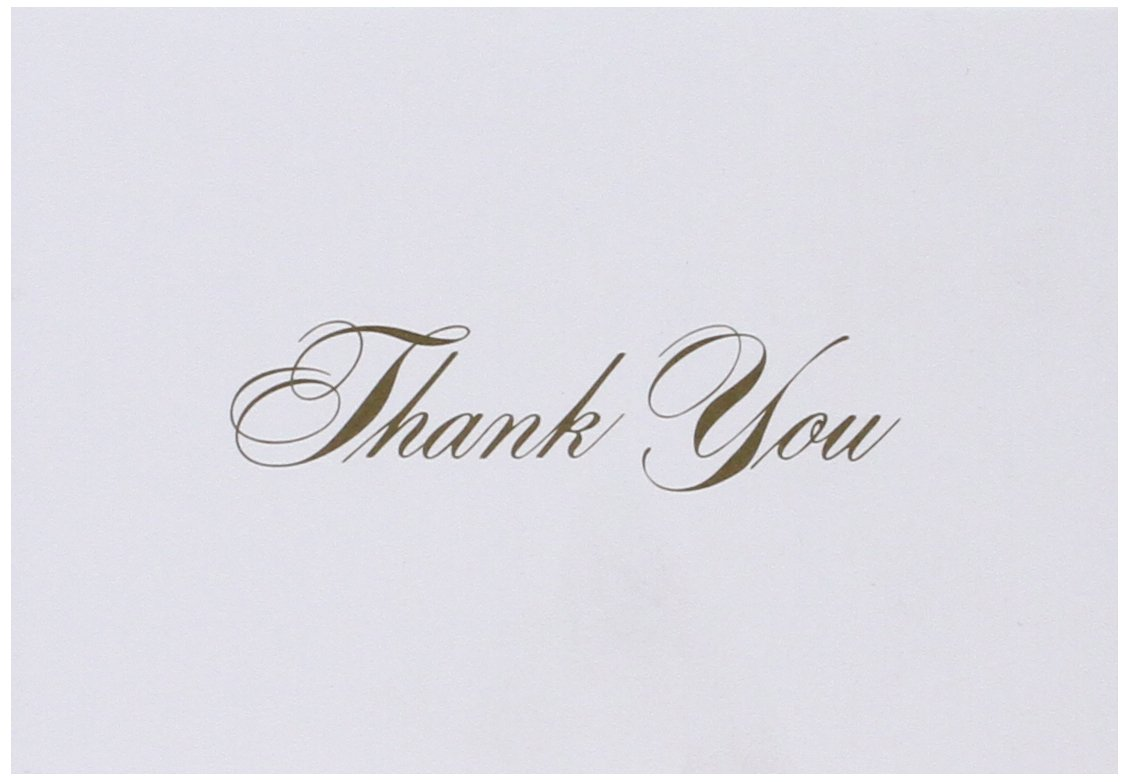 Great Papers! Gold Thank You Note Cards with Envelopes, 4.875'x3.375', 48 Count (10624) 4.875x3.375