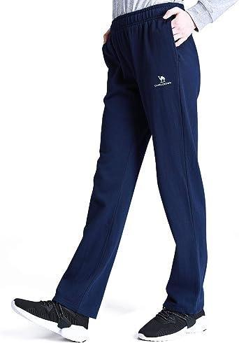 TALLA M. CAMEL CROWN Pantalones Deportivos para Mujeres Ligeros Pantalones de Jogging Largo Pantalón de Algodón Pantalones Casuales Pantalón de Chándal con Bolsillos para Gimnasio Deportes Correr Entrenamiento