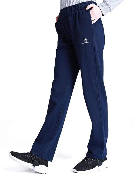 CAMEL CROWN Jogginghose Damen mit Taschen Trainingshose mit weichem Kordelzug Sweatpants Für sportliche Jogging Lounging Fitnessstudio Running Outdoor