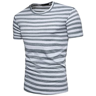 24c9f732eb40 hellomiko Männer Sommer T-Shirt Lässige Sport T-Shirt Fitness Outdoor T- Shirt