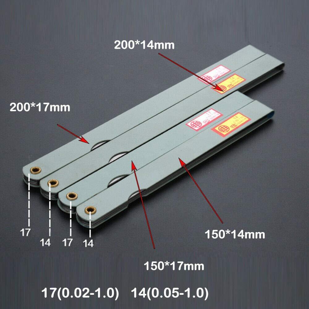 100 x 10mm, 1Pcs SENRISE 10 Blade Stainless Steel Marked Metric Gauge Feeler Gauge Gap Measuring Tool
