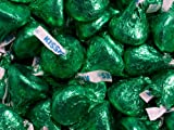 Hershey's Green Foil Wrapped Milk Chocolate Kisses Green Hersheys Kisses 5 Pound Bag