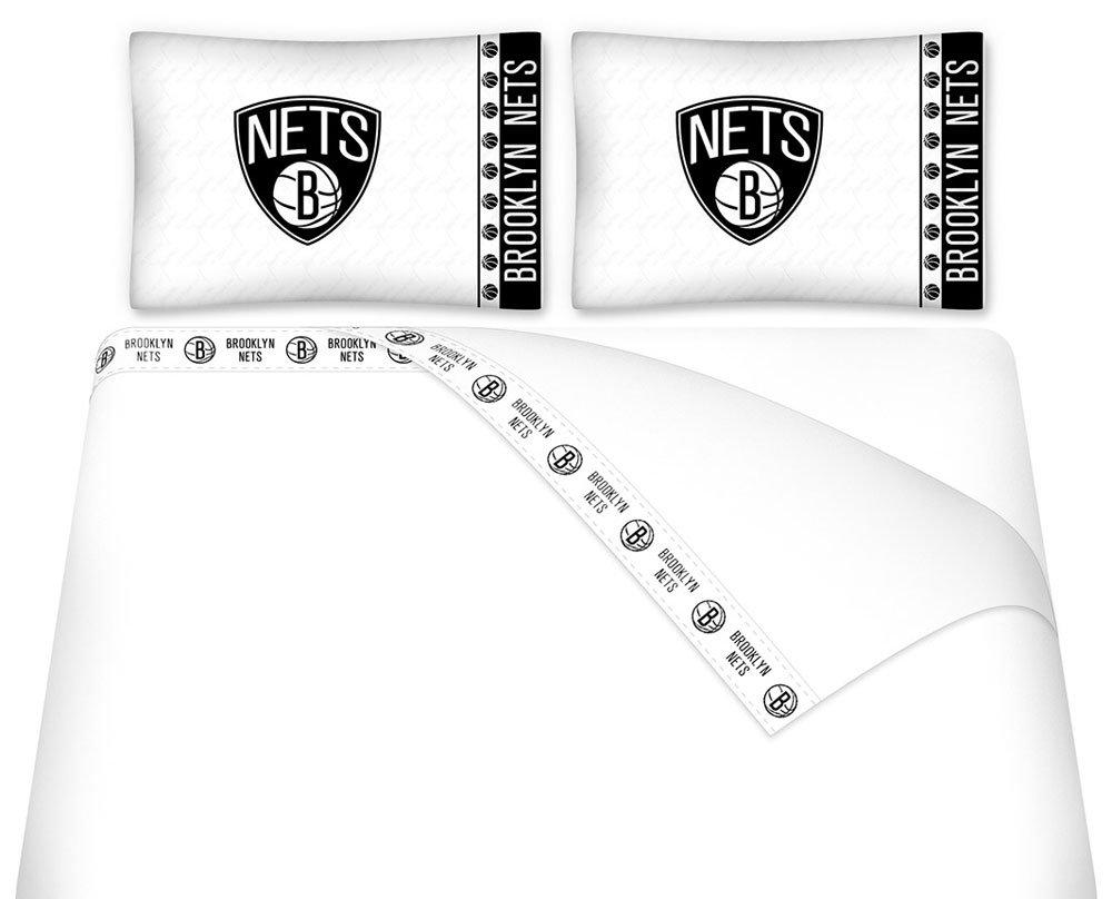 NBA Brooklyn Nets Full Bedding Set Basketball Logo Bed by NBA