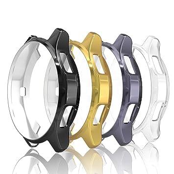 Simpeak 4-Packs Funda para Samsung Gear S3 / Galaxy Watch 46mm, Funda Samsung Gear S3 Slim Suave TPU Reemplazo Protector Caso Marco Anti-Arañazos - ...